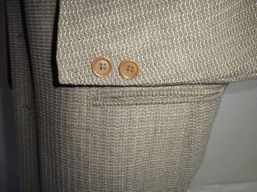 Coat Textured Rayon Zileri 46 amp; Beige Green Pal L 4 Buttons Wool Jacket Blend t4qPdx8
