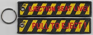 RAF-Royal-Air-Force-Pull-To-Eject-Ejection-Seat-Embroidered-Key-Ring-Pull-Cord