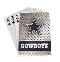 Dallas Cowboys 52 Playing Cards Deck Diamond Plate Poker Nfl Football
