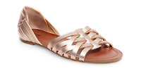 Women's Gena Strappy Flat Huarache Sandals Mossimo Supply Co.™ - Rose Gold - 8.5