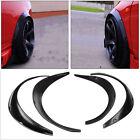 Stock 4 PCS Car Black Polyurethane Flexible Exterior Fender Flares US Shipping