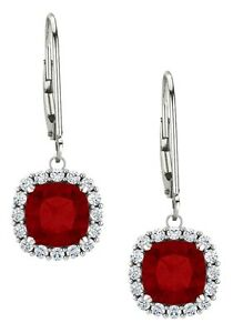 Sterling-Silver-2-40-tcw-6mm-Created-Ruby-Leverback-Halo-Earrings