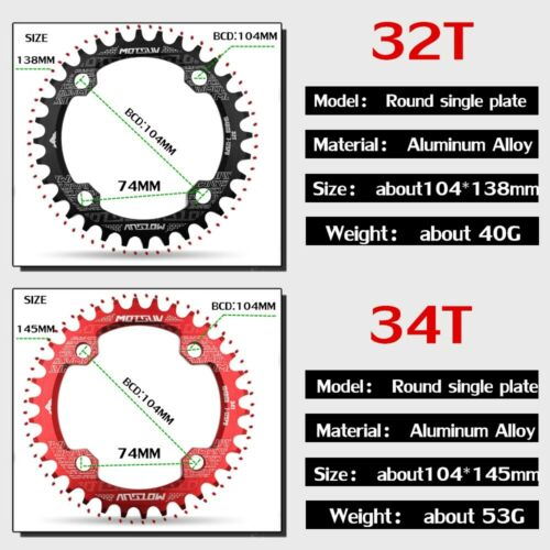 Shape Bicycle Chainwheel Bike Circle Crankse 104BCD Bicycle Crank MTB Chainring