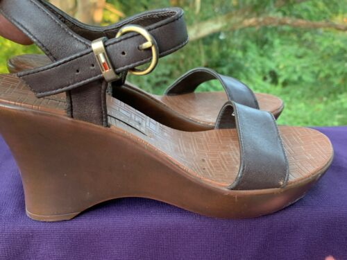 TOMMY HILFIGER Leather Slingbacks Clogs Mules Wed… - image 1