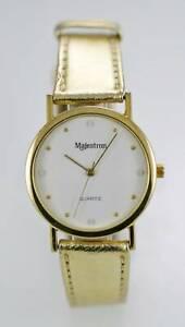 Armbanduhren Aggressiv Majestron Uhr Unisex Edelstahl Gold Leder Wasserfest Weiß SpäTester Style-Online-Verkauf Von 2019 50% Uhren & Schmuck