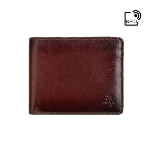 Personalised RFID la protezione dalle frodi modo inequivocabile BURNISH Tan Leather Wallet INCISIONE GRATUITA