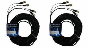 (2) Cbi Mt2xx 10 Ft (environ 3.05 M) Double Paire Stéréo Xlr à Xlr Microphone Micro Câble Cordon Neutrik-afficher Le Titre D'origine