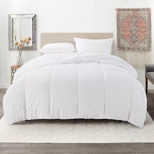 Ultra Soft Down Alternative Comforter All Season Quilted Duvet Insert - White