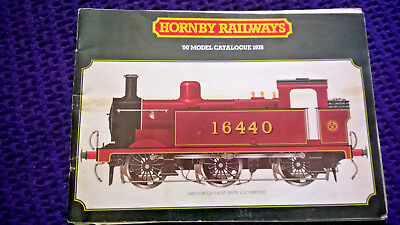 Ambizioso Hornby Oo Guage 1978 Edition Railway Catalogue Inc A4 Retail Issue Price List