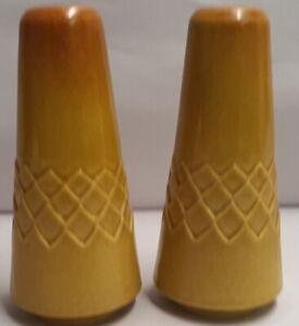 Vintage-Australian-Diana-Pottery-Nefertiti-Stoneware-Salt-amp-Pepper-c1960s