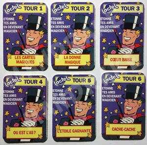 2-LOTS-de-6-tours-Magie-collector-dans-Pif-gadget-Lactel-Neufs-et-scelles