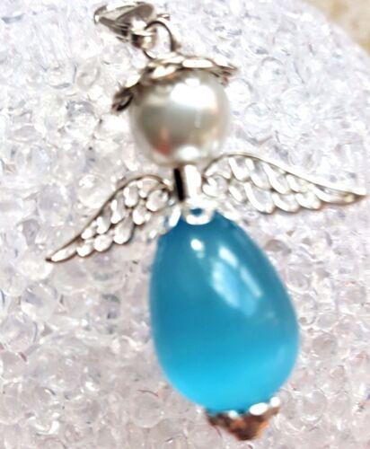 Schutzengel XXL Engel Anhänger mit Cateye Perle  Gastgeschenk Schlüsselanhänger