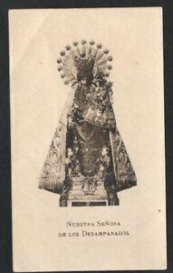 Image pieuse ancianne Virgin de los Desamparados santino holy card estampa q6aovbf9-08052850-616016465
