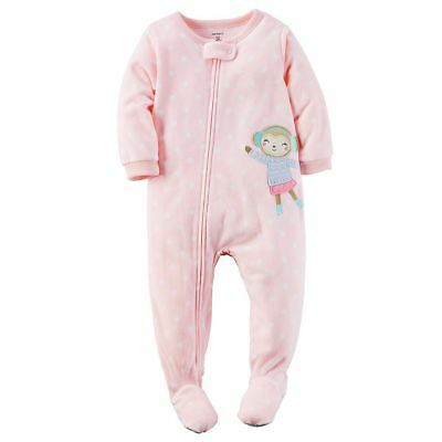 NWT Carter/'s Toddler Girls Pajamas Footed 1 pc one piece Cat or Rudolph 2T or 4T