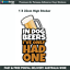 IN-DOG-BEERS-I-039-VE-ONLY-HAD-ONE-Funny-car-bumper-window-sticker-I013