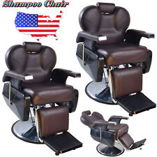 LOT 2 BarberPub Hydraulic Recline Barber Chair Salon Hair Spa Styling Equipment
