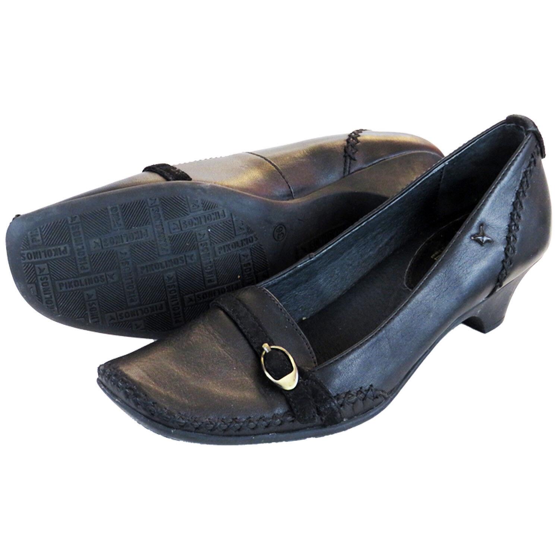 PVP  Pikolinos Tribunal Zapatos para para para mujer Slip On Tacones De Cuero Negro 3 UK  marcas de diseñadores baratos