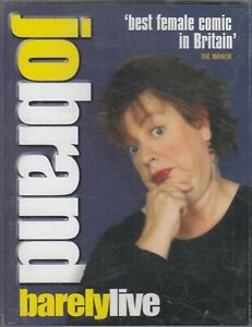 Jo-Brand-Barely-Live-Cassette-Audio-Comedy-Humour-Stand-Up-FASTPOST