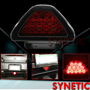 Universal F1 Style 12 Led Red Rear Tail Third Brake Stop