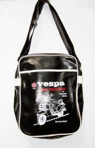 new black Retro overnight//gym//holdall//flight//messinger//school bag tote VESPA