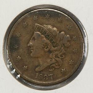 1837 1c Coronet Head Large Cent SKU-Y2535