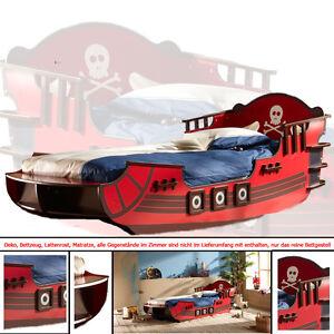 Kinderbett piratenschiff  Kinderbett PIRATENSCHIFF ROT Piratenbett Seeräuber Piraten Boot ...