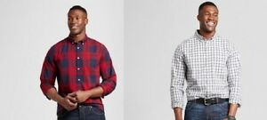 Goodfellow-amp-Co-Standard-Fit-Plaid-Shirt-Big-amp-Tall-Various-Sizes-2XB-3XB