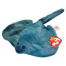 02804b1eb56 Sting Blue Stingray Ray 3rd Hang 2nd Tush Tag Generation Ty Beanie Baby Fish