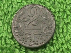 AUSTRIA-HUNGARY-2-Heller-1917-UNC