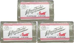 Chavant-Le-Beau-Touche-Clay-3-pack-Green-2-pound-blocks-Sculpting-Modeling