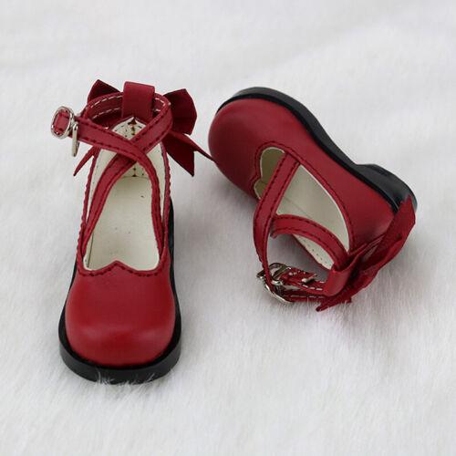 1//4 BJD Shoes MSD Dollfie bow red shoes Dollmore DREAM LUTS AOD MID SOOM DOD AF
