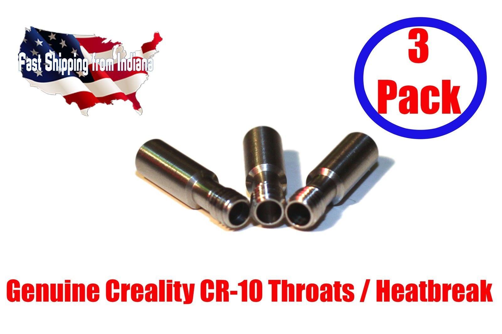 Creality CR-10 Stainless Steel Throat MK8 Genuine Creality, S4, S5, Ender, Mini