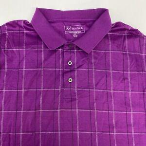 Jos. A. Bank Leadbetter Golf Polo Shirt Men's 2XL XXL Short Sleeve Purple Cotton