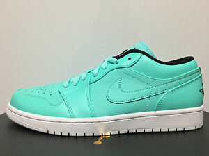 Nike Air Jordan Retro 1 Low Hyper Turquoise Black White 553558 ... e37134d4c9