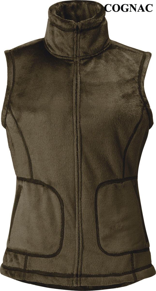 Kerrits Thermal Fur Riding Vest-Cognac-S