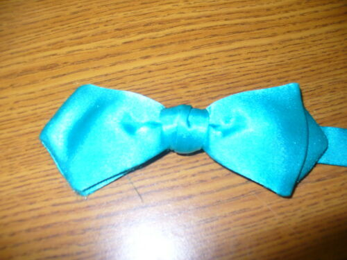 Teal Deluxe Satin 88176 USED Bow Tie