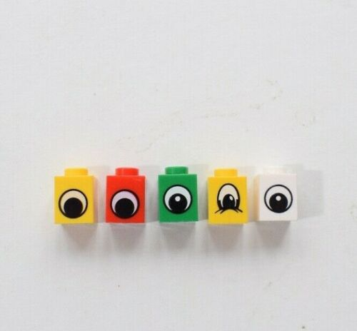Lego 3005 Brick with eye print 1x1 Pack of 10 Select Colour