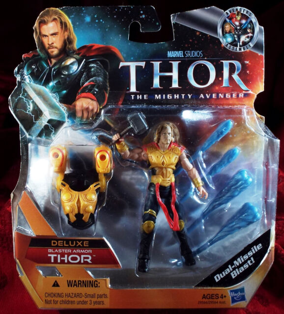 Thor The Mighty Avenger Deluxe Blaster Armor 4 Inch Action Figure AVENGERS NEW