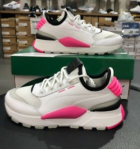 puma rs o sound shoes gray pink running training casual