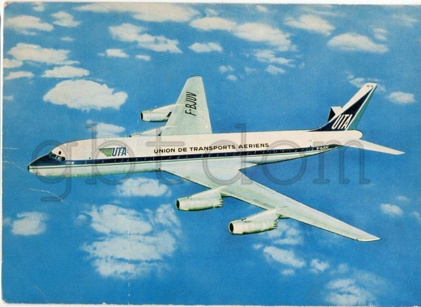 AIR CEYLON  DC 8 50  F-BJLB collection vilain N° 1065 UTA
