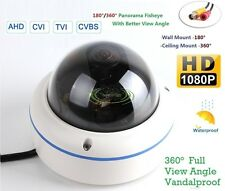 2.4MP HD-AHD Fisheye Panoramic Super Wide Angle CCTV Vandal camera 360/180Degree