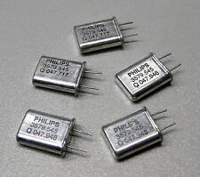 5 Stück Philips 3579.545 MHz Quarze  / Bauform HC-49/U (M8600)