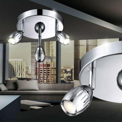 LED Decken Strahler 15 Watt Beleuchtung beweglich Spot Esszimmer Chrom Leuchte