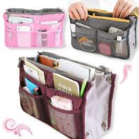 Korean Inside/Outside Insert Handbag Makeup Cosmetic Purse Travel Organizer Bag