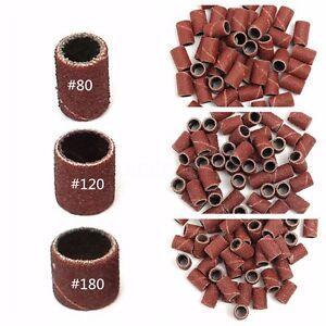 150PZ-Scovolini-Abrasivi-Ricambio-Per-Fresa-Unghie-Nail-Art-Grit-80-120-180