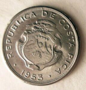 1953-Costa-Rica-10-Centimos-Excelente-Moneda-Bin-103