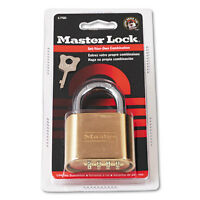 Master Lock Resettable Combination Padlock 2 Wide Brass 175d on sale