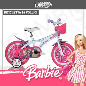 "BICI BICICLETTA BARBIE MISURA 16/"" 107-125 DINO BIKES ROSA BAMBINA BIMBA MADE IN"
