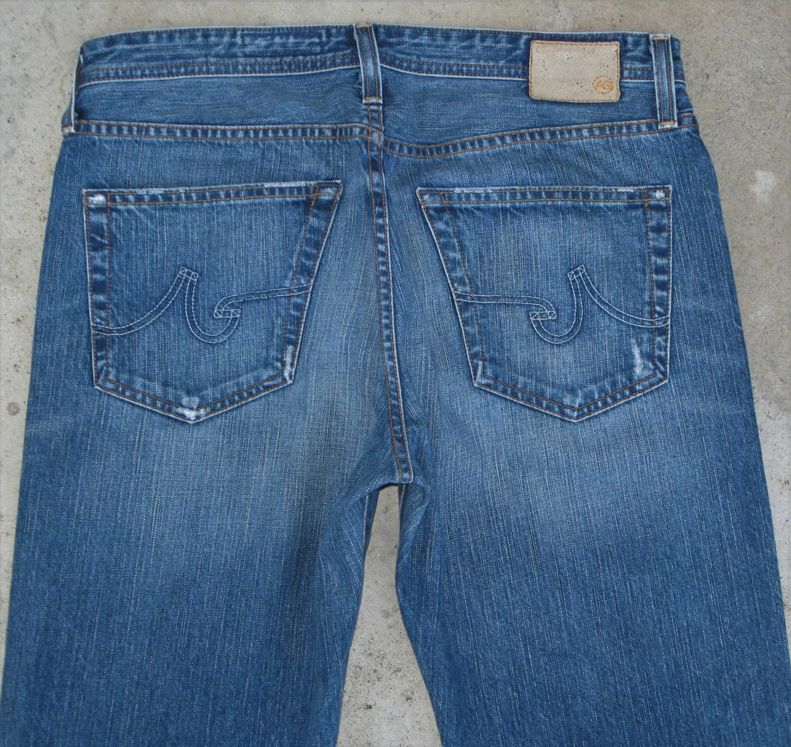 AG ADRIANO goldSCHMIED Predege Jeans Mens Sz 33 X 31 Straight Leg Distressed