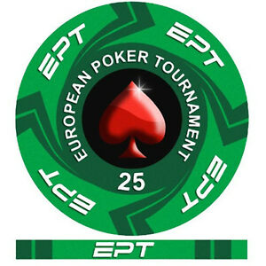 Fiches Ceramica EPT European Poker Tour Valore 25 - Bordo Allineato